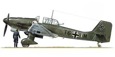 Junkers JU-87 B-2, Sturzkampfgeschwader 2, Luftwaffe, Bulgaria, 1941. Pin by Paolo Marzioli