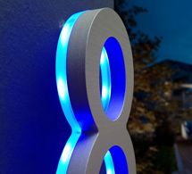Luxello LED House Number 5 inch Illuminated Outdoor