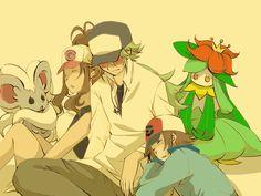 Relax After a Long Day by shinju-kun on DeviantArt N Pokemon, Black Pokemon, Pokemon Ships, Pokemon Fan Art, Cute Pokemon, Pokemon Special, Aesthetic Anime, Anime Characters, Black And White