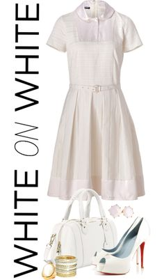 """""""White on White"""" by angela-windsor on Polyvore"""