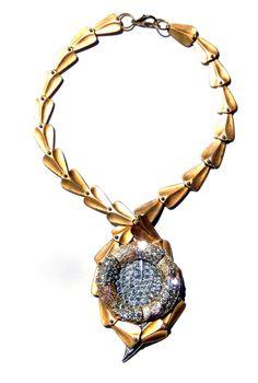 Gilded Laurel Laurel Leaves, Art Decor, Jewelry Design, Pendant Necklace, Drop Necklace