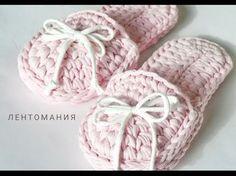 Вяжем уютные и мягкие тапочки крючком из трикотажной пряжи — I Love Hobby — Лучшие мастер-классы со всего мира! | носки,рукавички,перчатки,вязанная обувь | Postila