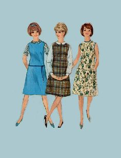 Retro Mod 60s Style Dress Simplicity 5384 by AdeleBeeAnnPatterns, $6.50