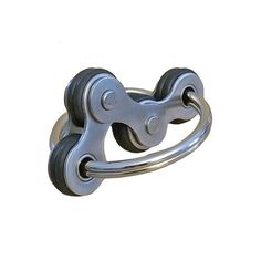 Awesome Fidget!  The WaveLink fidget consists of three repurposed bicycle chain links connected on each end to a single split keyring. What makes this different from