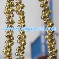 Gold Round Beaded Tree Branch For Xmas Decor
