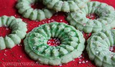 Pin it. Pulled from the archives, I originally shared this cookie recipe in 2012. Hope you enjoy! Cream Cheese Spritz Cookies These Cream Cheese Spritz cookiesare so delicious and as far as Christmas treats go – they are really frugal! Cream cheese is on sale for $0.99 or less this time of year and you …