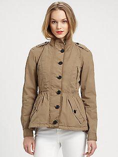 Burberry Brit Cinched-Waist Jacket