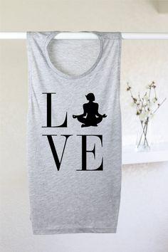 Love Yoga Tank Yoga Tank Top Yoga Top Yoga door ArimaDesigns