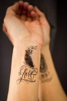 Hey, I found this really awesome Etsy listing at https://www.etsy.com/listing/185996896/small-temporary-love-feather-bird-tattoo