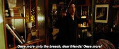 Sherlock reciting Shakespeare