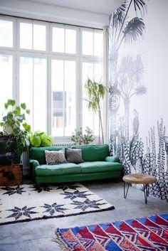 Vert comme le canapé
