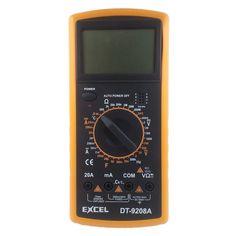 $12.99 (Buy here: https://alitems.com/g/1e8d114494ebda23ff8b16525dc3e8/?i=5&ulp=https%3A%2F%2Fwww.aliexpress.com%2Fitem%2FEXCEL-DT9208A-LCD-Digital-Multimeter-DC-AC-Voltage-DC-Current-AC-CYRREBT-Resistance-Capacitance-Temperature-Frequency%2F32316486725.html ) EXCEL DT9208A  LCD Digital Multimeter DC/AC Voltage DC Current AC CYRREBT Resistance Capacitance Temperature Frequency meter for just $12.99