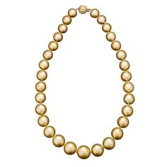 - Golden South Sea Pearl Necklace