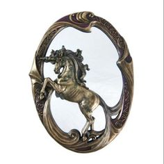 Stunning Bronzed Finish Unicorn Wall Mirror
