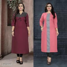 Checkout this latest Kurtis Product Name: *Women's Printed Cotton Kurti* Fabric: Cotton Sleeve Length: Three-Quarter Sleeves Pattern: Printed Combo of: Combo of 2 Sizes: M (Bust Size: 38 in, Size Length: 46 in)  L (Bust Size: 40 in, Size Length: 46 in)  XL (Bust Size: 42 in, Size Length: 46 in)  XXL (Bust Size: 44 in, Size Length: 46 in)  Easy Returns Available In Case Of Any Issue   Catalog Rating: ★4 (6172)  Catalog Name: ⚡Ella Beautiful Women'S Kurtis Combo CatalogID_825601 C74-SC1001 Code: 294-5526868-7821