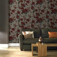 Kensington Red / Taupe Wallpaper by Graham and Brown