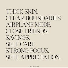 Self Appreciation, Thick Skin, Airplane Mode, Self Care Activities, Byron Bay, Cute Quotes, Dream Life, Self Improvement, Life Lessons