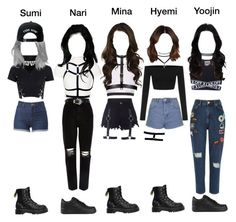 || Debut Stage || by royal-official on Polyvore featuring polyvore fashion style OPTIONS Glamorous Alice + Olivia Topshop River Island Dr. Martens NIKE Trukfit clothing