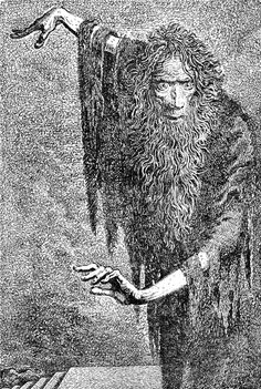 """ Mervyn Peake. Illustrations to Coleridge's Rime of the Ancient Mariner. 1943.Striking illustrations to the work of English poet Samuel Taylor Coleridge, written in 1798. Rime of..."