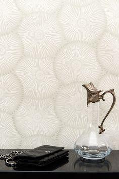 Frisson d'ombrelles coloris perle / papier peint intissé / tendance / déco / wallpaper
