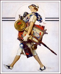 """Antique Hunter"" by Norman Rockwell - Saturday Evening Post July 1937 Norman Rockwell Prints, Norman Rockwell Paintings, Peintures Norman Rockwell, The Saturdays, Art Et Nature, Retro, Saturday Evening Post, Painting Gallery, Art Plastique"