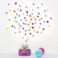 Mini Shanghai Polka Dot Wall Stickers by Koko Kids, the perfect gift for Explore more unique gifts in our curated marketplace. Mini Stickers, Wall Stickers, Wall Decals, Polka Dot Walls, Polka Dots, Washable Paint, Kid Desk, Decoration, Shanghai
