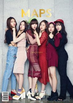 Trendy rookie group G-Friend can be seen in the pages of fashion magazine 'MAPS'! Pictures dropped on September 23 show that the group will be the cov… Kpop Girl Groups, Korean Girl Groups, Kpop Girls, Kpop Fashion, Korean Fashion, K Pop, Korean Celebrities, Celebs, Moda Kpop