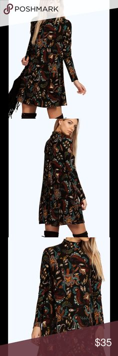 NWT Boho Paisley Dress Sz 4 Brand sold at Asos.com. Scheduled to receive the dress Oct 28 th. ASOS Dresses Long Sleeve
