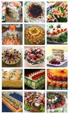 Tea Party Sandwiches, Finger Sandwiches, Sandwich Torte, Salty Cake, Swedish Recipes, Savoury Cake, Food Presentation, High Tea, Food Art