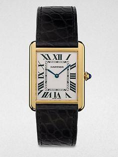 Cartier - Tank Solo 18K Gold & Alligator Watch - Saks.com