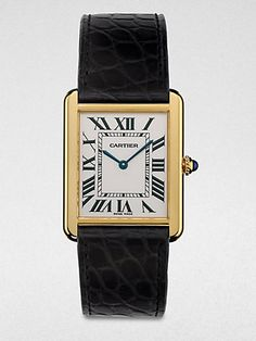 Cartier * Tank Solo 18K Gold & Alligator Watch #GiveSaks