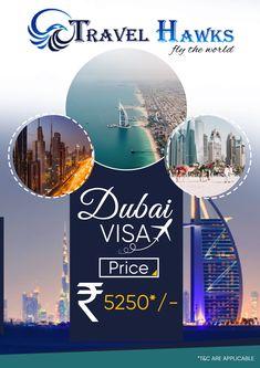 Dubai Visa Online at Rs.5250 VISA, DUBAI HOLIDAY PACKAGES, DUBAI TOURIST VISA Dubai Travel Guide, Dubai Tourism, Dubai Holidays, Creative Poster Design, Travel Companies, Travel Design, Travel Agency, Travel Posters, Flyer Design