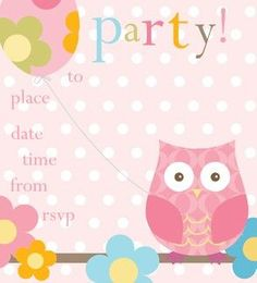 Pack of 8 Girls Party Invitations
