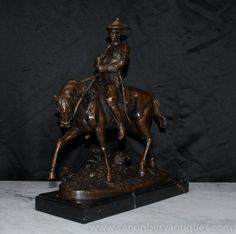 French Bronze PJ Mene Hunter Horseback Statue Figurine Signed Greyhounds, Black Marble, Antique Art, Art Deco Fashion, Pj, Bronze, Traditional, French, Statue