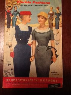Cool magazine I picked up at the local antiques shop, love the details of these dresses