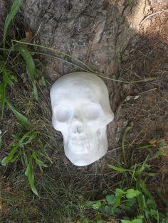 New Concrete Gothic Skull Plaque. Lawn/Garden by PourBoyCeramics, $19.99