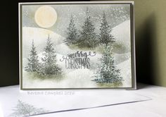 Mod Squad Challenge Trees and Snow.  Barbara Campbell
