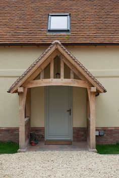 Front Door Entrance Porch Border Oak 35 Ideas For 2019 Front Door Porch, Front Porch Design, Front Door Entrance, Front Doors, Front Porches, Building A Porch, Building A House, Border Oak, Oak Frame House