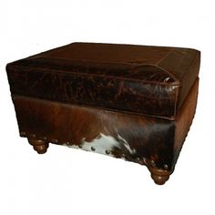 Great Blue Heron Santa Fe Storage Ottoman