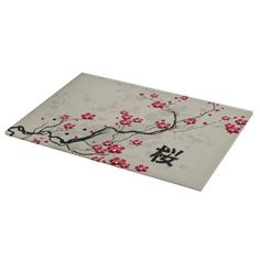 Oriental Style Sakura Cherry Blossom Art - Cutting Board via Zazzle