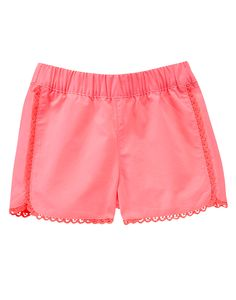 Picot Trim Neon Shorts at Gymboree Collection Name: Island Cruise (2015)