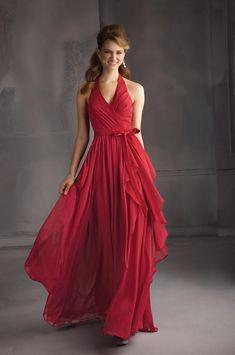 657b9420fc70 Angelina Faccenda 20432 Long Halter Bridesmaid Dress