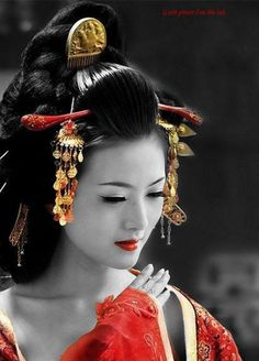 Gijo ( Gijo ) , it courtesan or geisha in China ] . A prostitute , also… Japanese Beauty, Asian Beauty, Beautiful Asian Women, Beautiful People, Art Geisha, Asian Woman, Asian Girl, Asian Ladies, Geisha Tattoos
