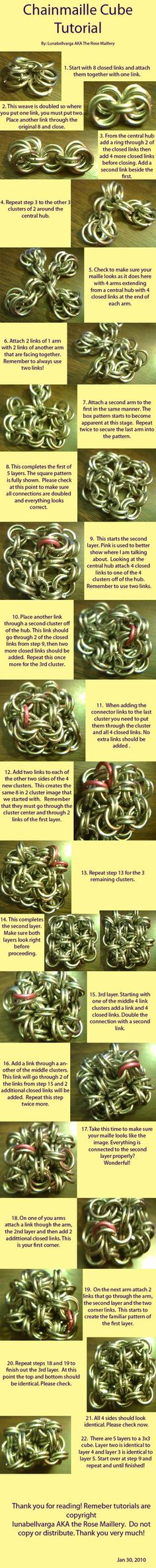 Chainmaille Cube Tutorial by ~lunabellvarga on deviantART