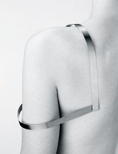 Sculptural Minimalism - sculpted shoulder piece; architectural body jewellery; minimal fashion // Josef Pleskot accessory, fashion, jewellery, minimalist