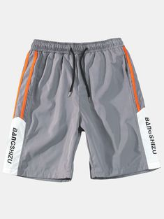 Style: Fashion Length: Short Material: Polyester Fit Type: Regular Waist Type: Mid Closure Type: Drawstring Front Style: Flat With Belt: No Season: Summer Cool Outfits, Fashion Outfits, Style Fashion, Boy Silhouette, Streetwear Shorts, Casual Shorts, Men's Shorts, Latest Mens Fashion, Kids Fashion