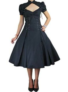 My Gothic Dolly Dress, 59.95  so want one of these for work - swap out the laces with red to match my plaid purse and match with the plaid Mary Janes. It would kick the heck out of my day!