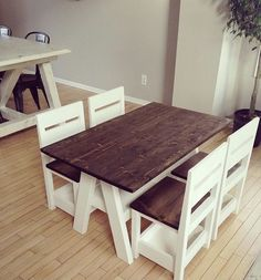 kids table and chairs ~ kids table wedding . kids table and chair sets . kids table and chairs . kids table and chair sets diy . Furniture Projects, Table Furniture, Home Projects, Home Furniture, Farmhouse Furniture, Diy Childrens Furniture, Childrens Desk, Carpentry Projects, Dark Furniture