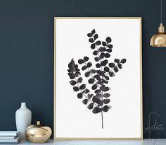 Abstract Black White Wall Art Eucalyptus Minimalist Art #abstract #blackwhite #wallart #eucalyptus #minimalistart #watercolorart #artwork #watercolorprint #plants #botanicalprint #prints #art #poster