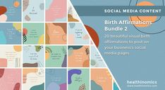 ❤️ SOCIAL MEDIA CONTENT ❤️ 🧡 🍼 Birth Affirmations Bundle 2 🧡 🍼 - Birth affirmations are sayings or statements designed to change your mindset and help you maintain a positive outlook or mood about the birth process. Positive birth affirmations can be a great tool to use during labor and delivery of your baby. They can help you to focus on the right things and get into the mental state needed for a natural birth. #BirthAffirmations #Birth #PositiveBirth Social Media Images, Social Media Content, 2nd Birth, Birth Affirmations, I Can Do Anything, Natural Birth, Change Your Mindset, Positive Outlook, Doula